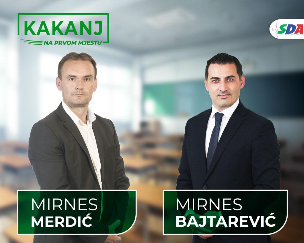 Mirnes Merdić: Veliko zadovoljstvo mi je podržati Mirnesa Bajtarevića kandidata za načelnika općine Kakanj